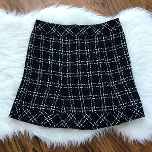 Nanette Lepore Black Tweed Wool Mini Skirt